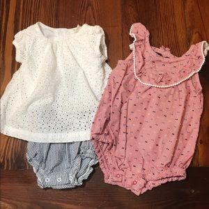 6/9 mo Summer Bubble Rompers